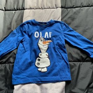 6/$25 Toddler boys Olaf long sleeve shirt